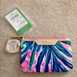 Lilly Pulitzer key ID case gypset paradise